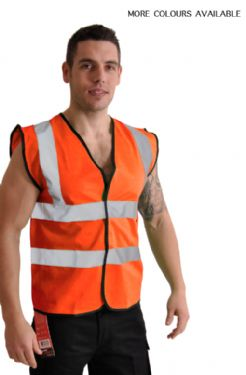 High Visibility Safety Vest - 4 PACK